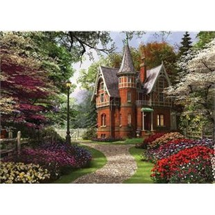 2000 Parça Puzzle Victorian Cottage in Bloom
