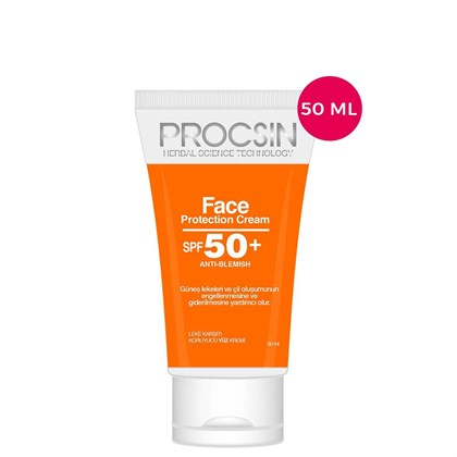 PROCSIN Güneş Kremi Face SPF 50+ , 50 ML. Mini Boy